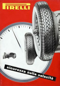 Bozzetto per pubblicità di pneumatici Pavel Michael Engelmann 1954