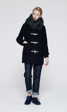 Love this toggle coat. Just in navy, please. :-)