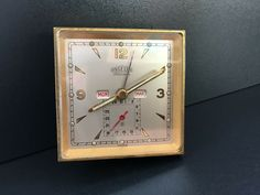 "ANGELUS FOLIODATE 8 DAYS TRIPLE CALENDARIO TRAVEL WATCH ""VINTAGE 1940"" 8 Days, Vintage Watches, Clock, Ebay, Stuff To Buy, Travel, Movado Watches, Old Clocks, Trips"