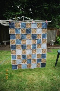 Denim rag quilt (can make with denim and acu)