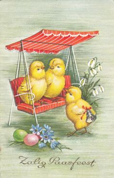 How cute is this vintage Easter Greetings postcard?