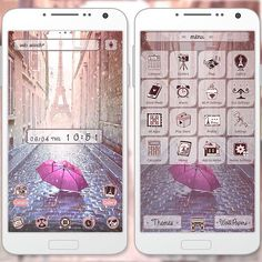 """""""Rain at the Eiffel Tower"""" 6/26 '15 Walking the streets of Paris, you notice it starts to drizzle. The sight of the Eiffel Tower through the mist surprises you with its beauty, making you drop your umbrella... Live out your Paris fantasy with this theme! http://app.android.atm-plushome.com/app.php/app/themeDetail?material_id=1283&rf=pinterest #wallpaper #design #beautiful #plushome #tower"""