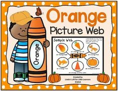 This Color Orange Picture Web from Linda's Loft for Little Learners is an excellent tool for introducing early learners to colors and familiarizing them with picture webs. For a closer look, please visit my TPT store.