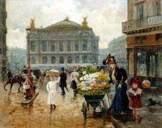 Joaquin Pallares y Allustante (1853 – 1935, Spanish) Paris, Place de l'Opera