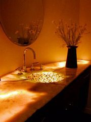 Onyx countertop with light