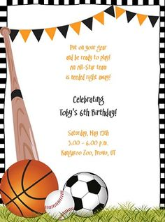 Birthday Celebration Invitation Template Glamorous Free Printable Sports Birthday Party Invitations Templates  Party .