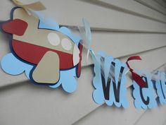 Baby Shower Birthday Party Its A Boy Airplane Banner