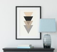 Geometric Print Wall Art Triangle Wall Art Prints image 2 Geometric Wall Art, Geometric Shapes, Triangle Wall, Nordic Art, Subtle Textures, Neutral Colour Palette, Minimalist Art, Large Prints, Wall Art Prints