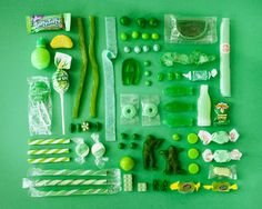 Green candy by Emily Blincoe.