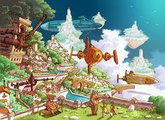 gameraddictions:  artwork Solatorobo: Red The Hunter