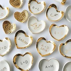 Shop the perfect little ❤-shaped customizable ring dish—on sale today ONLY—via the link in our bio! Ceramic Jewelry, Clay Jewelry, Ceramic Painting, Ceramic Art, Ceramic Design, Diy Air Dry Clay, Diy Coasters, Diy Blog, Ring Dish