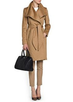 MANGO - CLOTHING - Coats - Wide lapel wool coat