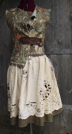 Tweed and vintage waistcoat and skirt | Flickr - Photo Sharing!