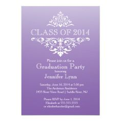 Free graduation party invitation templates invitation sample formal purple elegant flourish graduation party invitation filmwisefo