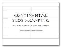 How to draw Classical Conversations CC blob maps. Blob mapping made easy with free printable templates for learning to draw the world freehand.