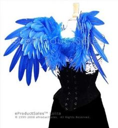 HOLIDAY SALE ROYAL BLUE Feather Lolita Angel Wings... | Shop | Kaboodle