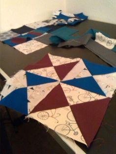 Pinwheel patchwork