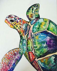 Sea turtle. Fun Paintings On CanvasBeach ...