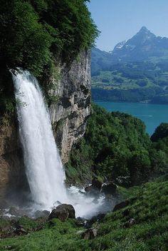 Seerenbach falls, near Betlis, Amden SG Switzerland: