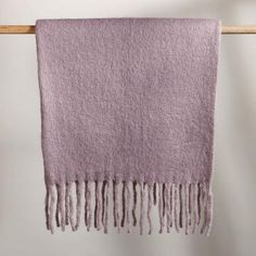 LILAC THROW - Hand loomed by traditional craftspeople in rural areas of India. Catalog Online, Made Clothing, Cotton Bedding, Muted Colors, Style Guides, Lilac, Blanket, Clothes For Women, Unique Jewelry
