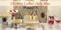 Christmas Cocktail Party Ideas...how to set up a buffet table that looks festive and spectacular.