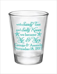 132a23245d1 Beach wedding favors, beach wedding shot glasses, destination wedding,  1.75oz personalized shot glasses