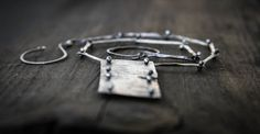 Forged Link Antiqued Sterling Silver Necklace by ElementalForge