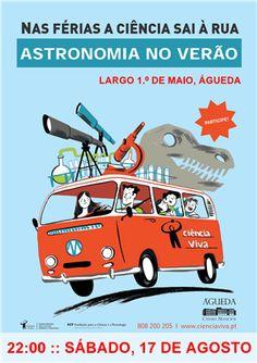 DIVERSOS | Uma Noite de Verão com os Astros | 17 de Agosto | 22h | Largo 1º de Maio