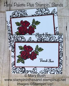 Stampin' in the Sand: Video: Live at 5 Petal Palette Roses