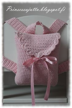 Princess Story: Daughter crocheted backpack