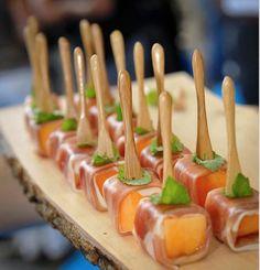 Ham met meloen, kubisme-style.