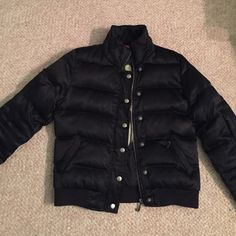 Juicy Couture puffer Black juicy couture puffer jacket. Extremely warm and such a beautiful jacket. Excellent condition. Side pockets and pocket on one arm. Says viva la juicy on the inside. Three stitched hearts on back and j on the zipper. Juicy Couture Jackets & Coats Puffers