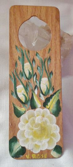 Bright yellow handpainted rose and buds on by EnchantedRoseProduct, $5.00 XMAS15 gives 15%off domestic sales (not GC)
