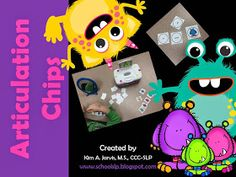 School SLP: Articulation Chips Activity!