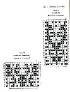 Mosaic Knitting Barbara G. Walker (Lenivii gakkard) Mosaic Knitting Barbara G… Knitting Charts, Knitting Stitches, Knitting Designs, Knitting Patterns, Crochet Patterns, Mosaic Knitting, Lace Knitting, Intarsia Patterns, Mosaic Patterns