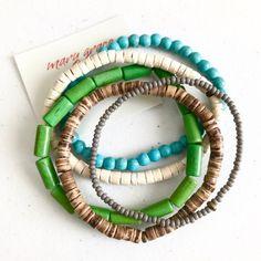 Bohemian Style Jewelry, Bracelet Set, Earthy, Turquoise Bracelet, Etsy Seller, Fashion Jewelry, Jewelry Making, Beaded Bracelets, Bangle Set