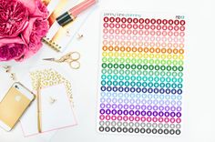 Kettleball Weight Fitness Mini Dots // Erin Condren Life Planner Stickers Plum Paper Planner Kikki K Filofax Happy Planner Inkwell