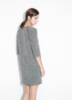 Vestido jaspeado algodão