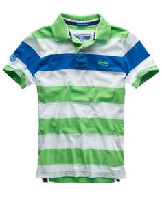 Superdry Chest Hoopstripe Polo - Men's Polo Shirts