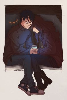 Harry Potter and Hermione in the tent with the golden snitch Fanart Harry Potter, Harry Potter Drawings, Harry Potter Ships, Harry Potter Fandom, Harry Potter Universal, Harry Potter World, Harmony Harry Potter, Hogwarts, Slytherin
