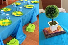 Frog Prince Party DIY Table Setting Centerpiece
