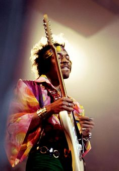 Jimi Hendrix on stage at the Royal Albert Hall in London, 1969.