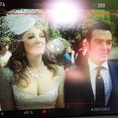 A shot of the monitor with @elizabethhurley1 My Queen on set of #TheRoyals #season2 #theloyals @theroyalsone