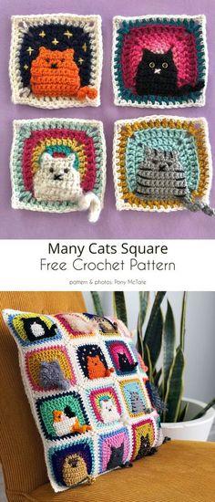 Crochet Blanket Patterns, Crochet Motif, Crochet Designs, Crochet Stitches, Crochet Granny, Free Crochet Patterns Uk, Granny Square Patterns, Free Crochet Square, Free Pattern