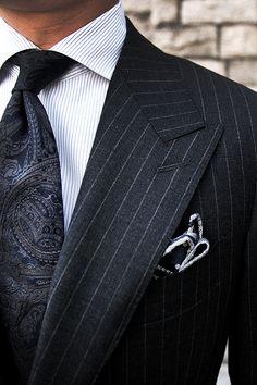 Classic Pinstripe Suit