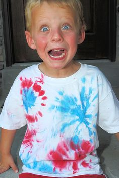 4th of July Tie Dye Shirt - Crazy Little Projects
