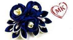 В этом мастер классе я покажу как сделать тройной цветок канзаши из круглых в складочку лепестков. ☛ ღ ✾ ✿ ❀ ❁ РАЗВЕРНИТЕ ОПИСАНИЕ, ТАМ ПОЛЕЗНАЯ ИНФОРМАЦИЯღ ...