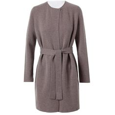 AKRIS Reversible Cashmere Robe Coat ($2,875) ❤ liked on Polyvore