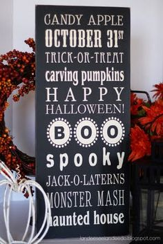 October sign.  I want to make this!