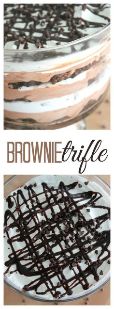 Brownie Trifle recipe from SixSistersStuff.com | This decadent dessert is so rich, yet so light, that you just can't go wrong with it. Perfect for any party or get together!